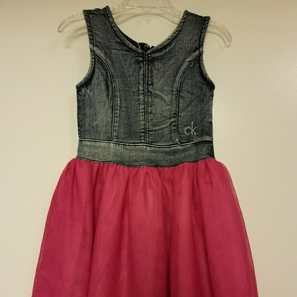 5d2523c91ae Calvin Klein Other - LITTLE GIRL S CK DENIM   TULLE DRESS